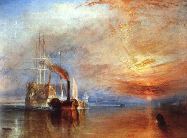 William Turner, The Fighting Temeraire tugged to her last Berth to be broken up, 1838
